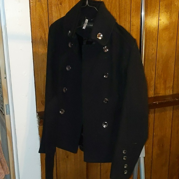 Black Rivet Jackets & Blazers - Black rivet black belted coat